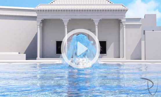 Le Jardin Secret Marrakech. Water system 3D animation trailer
